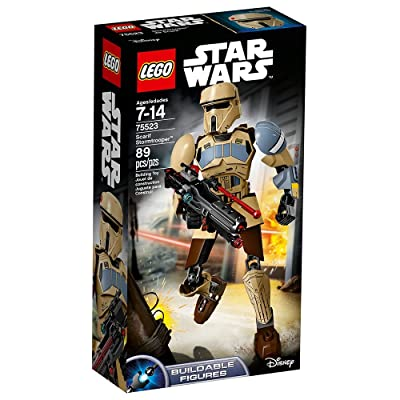 LEGO Star Wars Scarif Stormtrooper 75523 Star Wars Buildable Figure Toy: Toys & Games