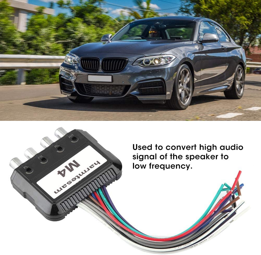 Car Stereo Subwoofer 4 Channel High to Low Audio Converter with Power Amplifier Control Wire Suuonee Audio Converter