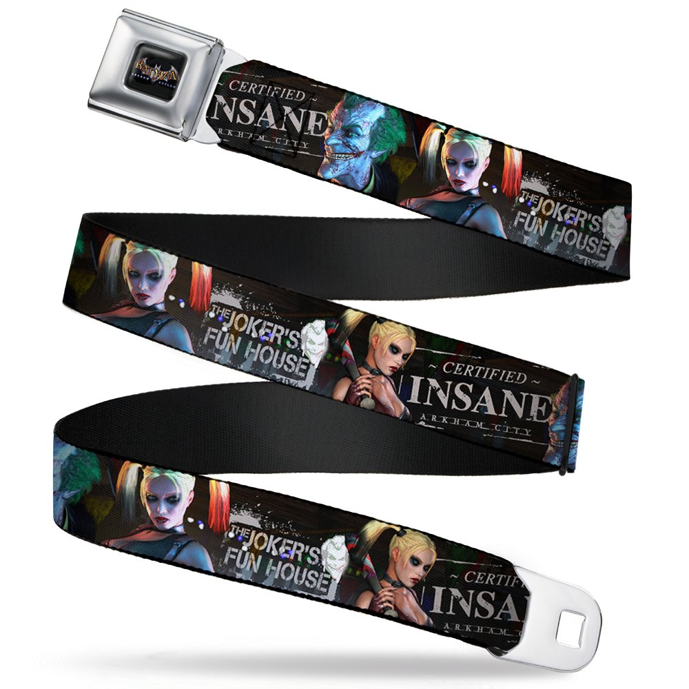 Buckle-Down Seatbelt Belt - Arkham City Harley Quinn & Joker CERTIFIED INSANE - 1.5