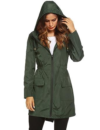b98e2bf7e8df Amazon.com  Lomon Women Waterproof Lightweight Rain Jacket Active ...