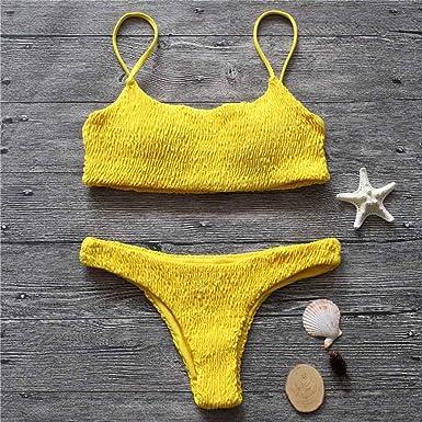 Amazon Hitsan Smocked Bikini Swimsuit 2018 Adjustable Shoulder