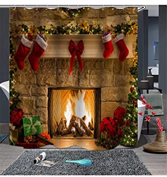 Ansodt Navidad Imprimibles Transpirable Impermeable Resistente Al