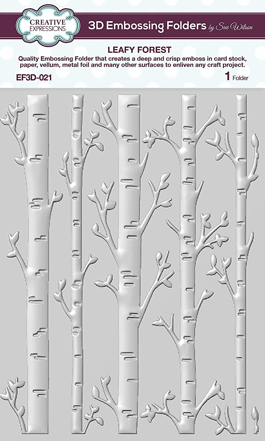 Creative Expressions EF3D021 Leafy Forest 3D Embossing Folder