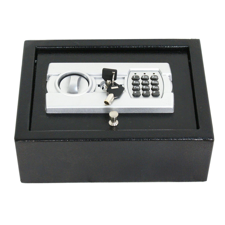shzondデジタル電子安全セキュリティボックスキーパッドロック壁ジュエリーガンCashブラック B076PDJL5P