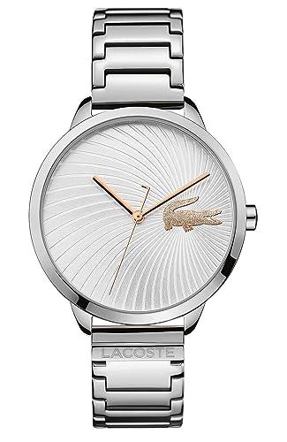 Lacoste Reloj Analógico para Mujer de Cuarzo con Correa en Acero Inoxidable 2001059: Amazon.es: Relojes