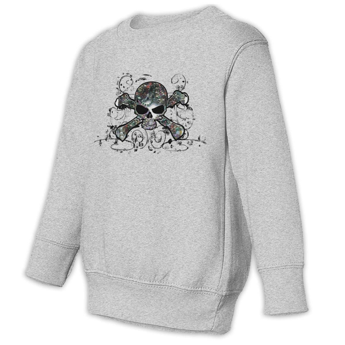 Yuliang Skull /& Crossbones Mardi Gras Children Leisure Sweater Gray