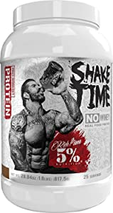 Rich Piana 5% Nutrition Shake Time | No-Whey 26G Animal Based Protein Drink | Grass-Fed Beef, Chicken, Whole Egg | No Sugar, Dairy, or Soy (Chocolate)