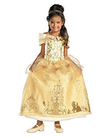 Beauty And The Beast Costume Kids Belle Prestige Toddler/Child Costume Outfit Medium  sc 1 st  Amazon UK & Beauty And The Beast Costume Kids Belle Prestige Toddler/Child ...