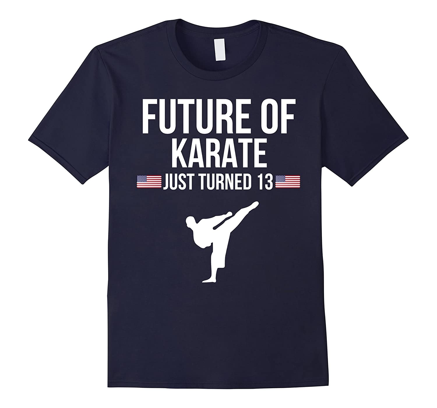 13th Birthday Karate T Shirt Gift For 13 Year Olds