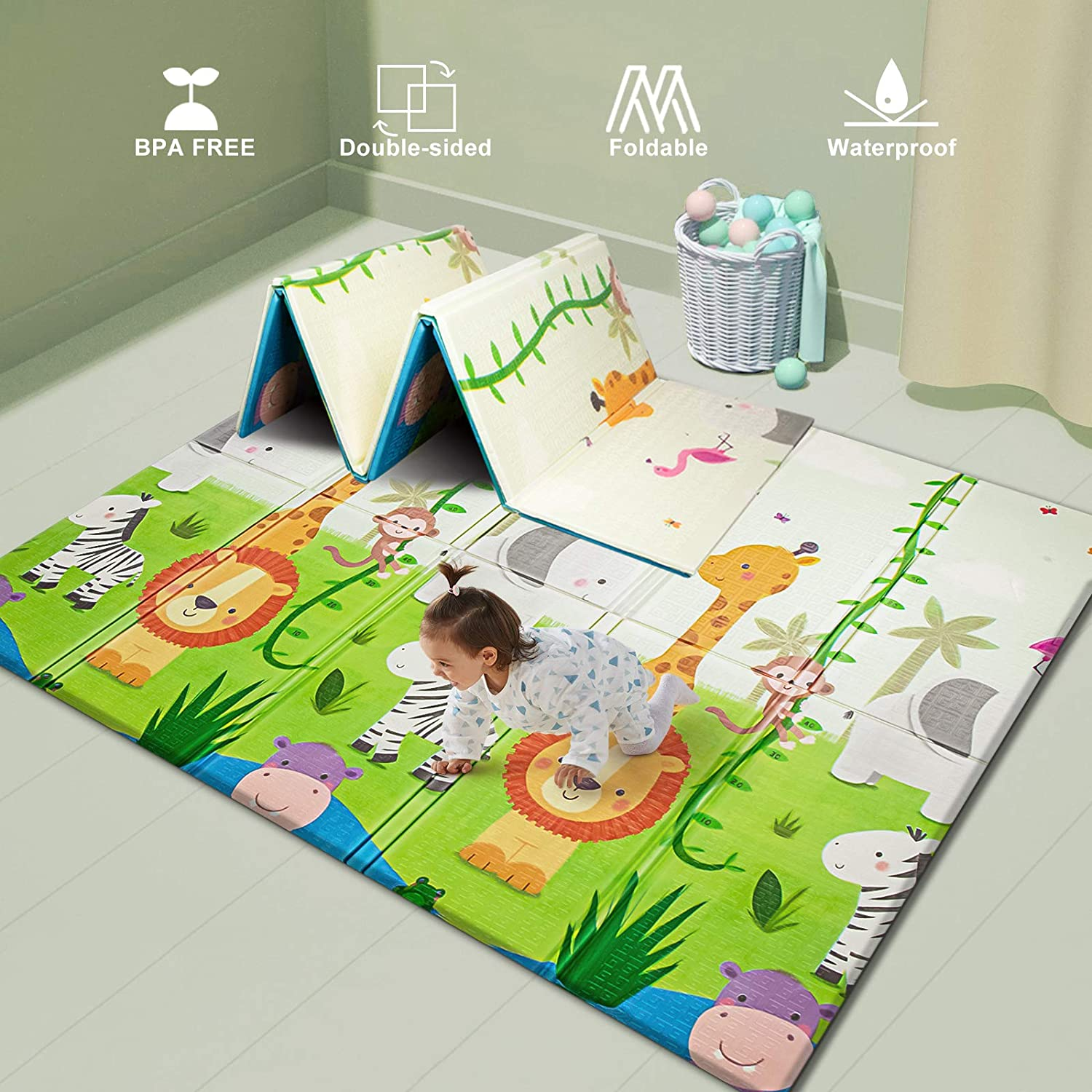 Uanlauo Baby Play mat, Foam Playmat Extra Large Thick Crawling playmat £31.19 with 40% voucher @ Amazon