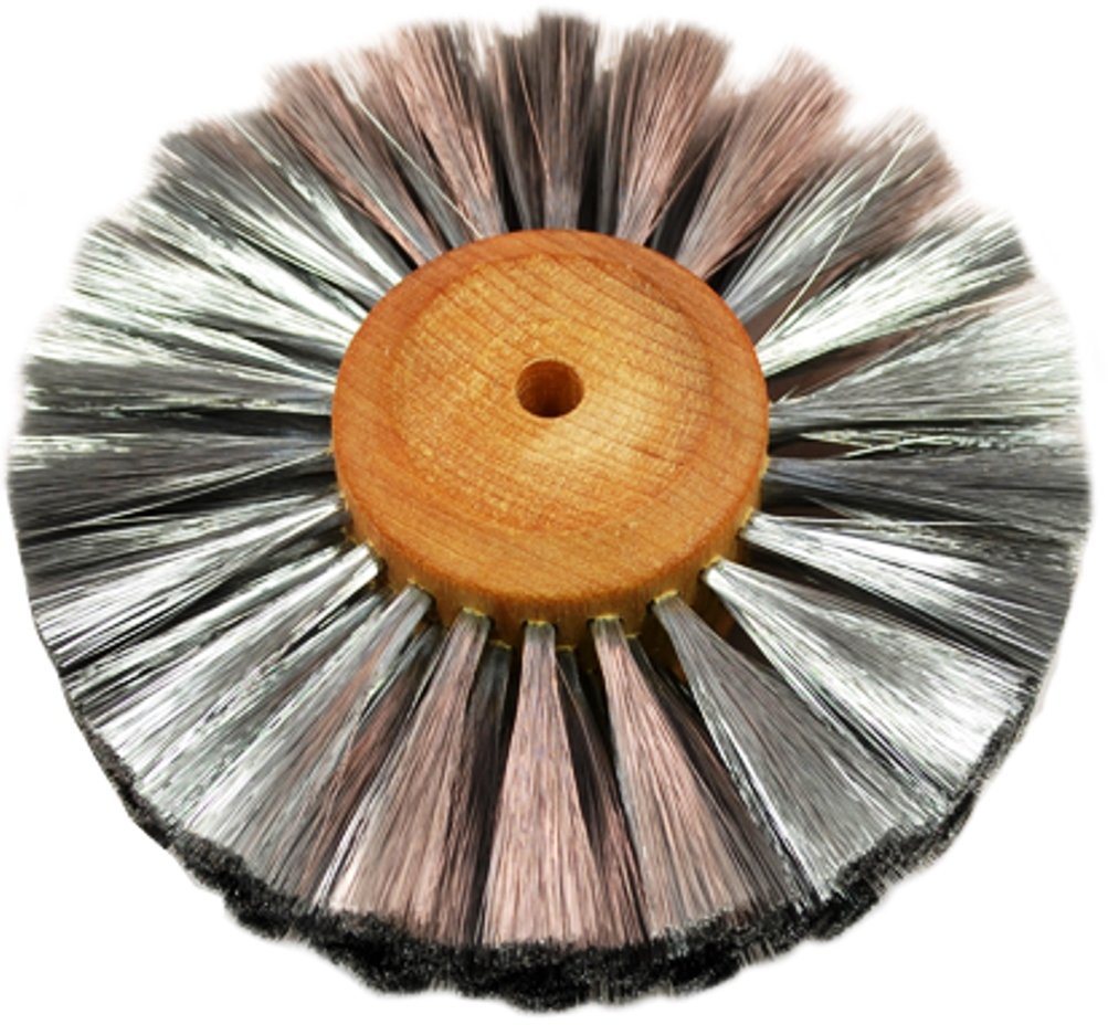 Steel Wire Brush Strands .003'' X 4'' Diameter Straight 4 Row