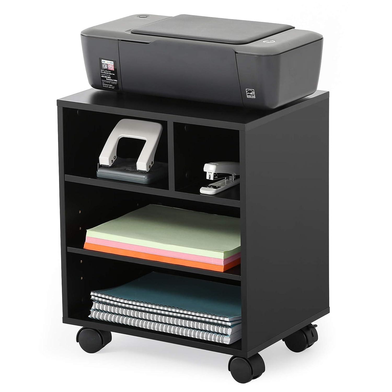 FITUEYES Legno Supporti per Stampante con Ruote Armadio per ufficio PS304003WB