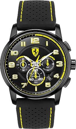 yellow man watch quartz official online s men pilota store r watches en ferrari cl scuderia