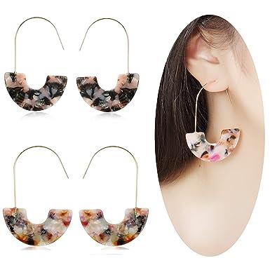 aa088fea6 MVCOLEDY Acrylic Earrings Bohemian Style Drop Dangle Earrings Resin Earrings  for Women Fashion Jewelry (Floral