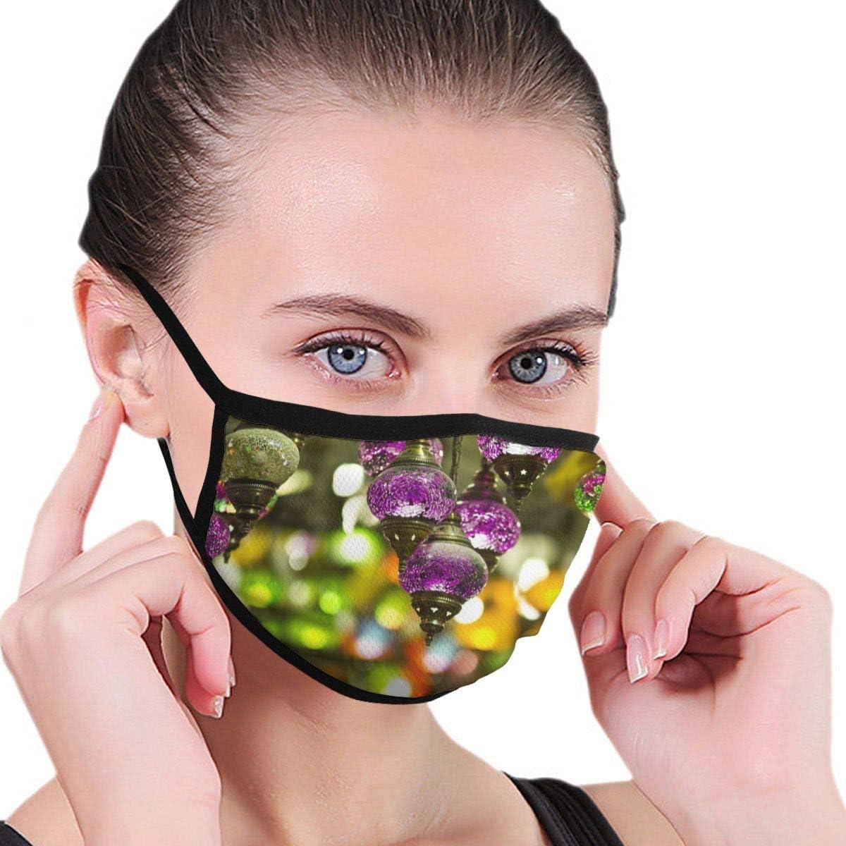 Dataqe - Lámpara de techo, color morado y máscara de tela para protección contra el polvo, algodón, lavable, reutilizable para hombres y mujeres, universal