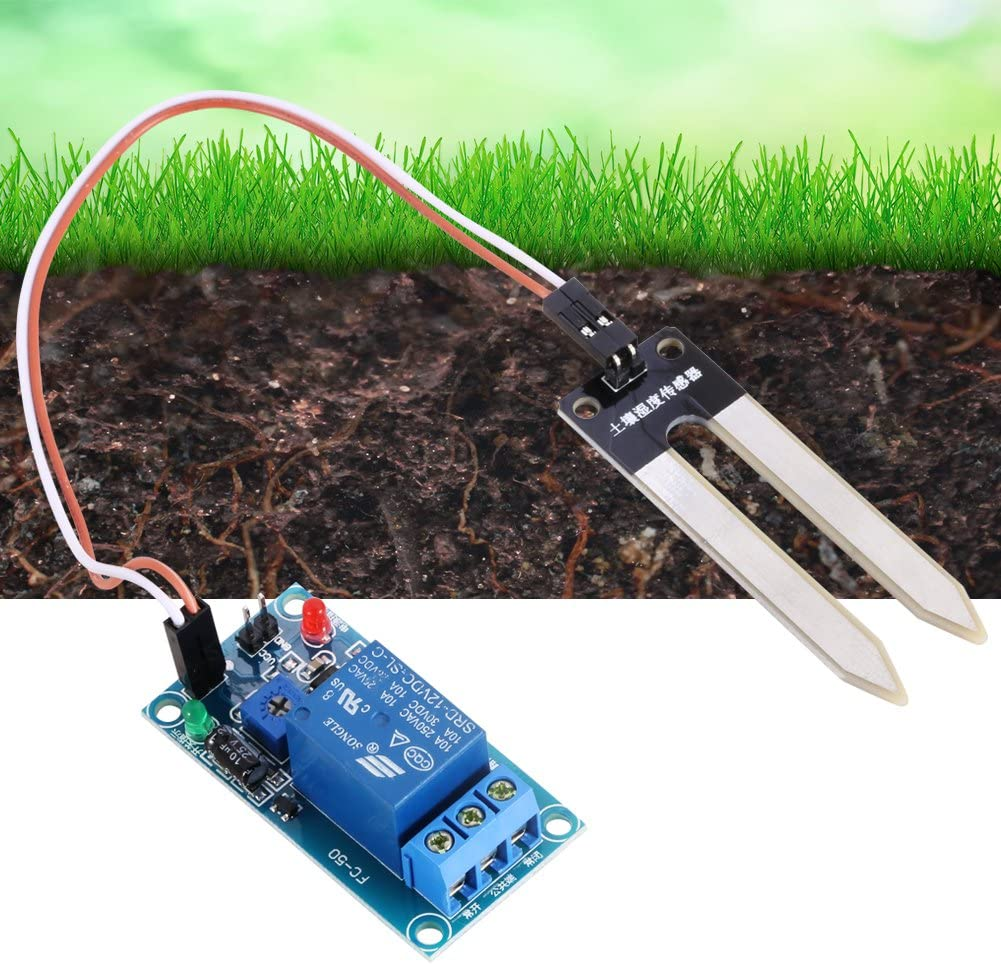 DC12V Soil Moisture Sensor Relay Control Module Automatic Watering Switch Nannday Soil Moisture Sensor Relay