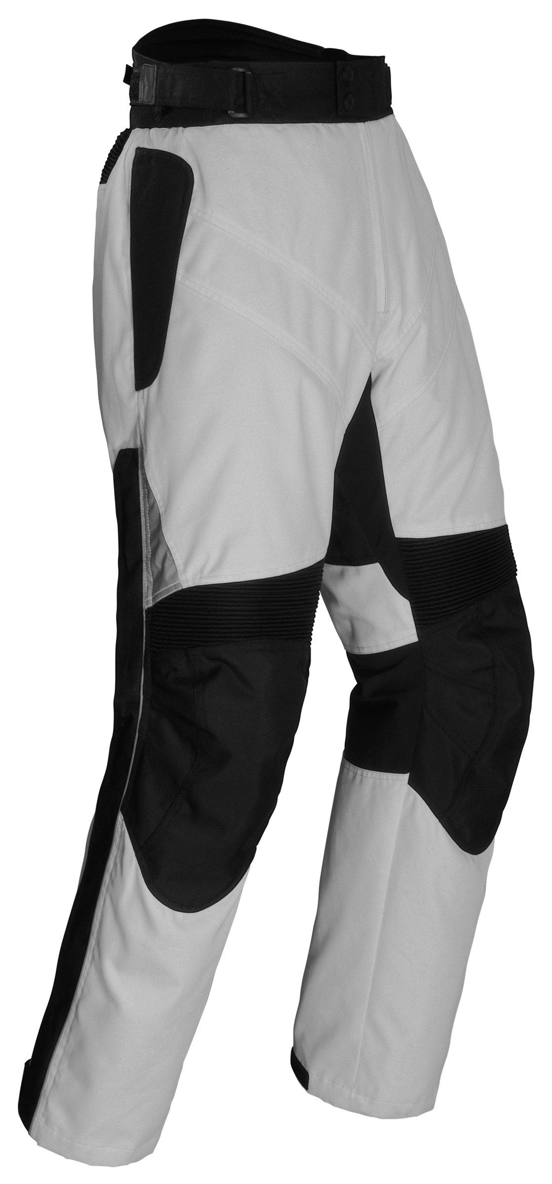 Tourmaster Mens Venture Silver/Black Pants - X-Large