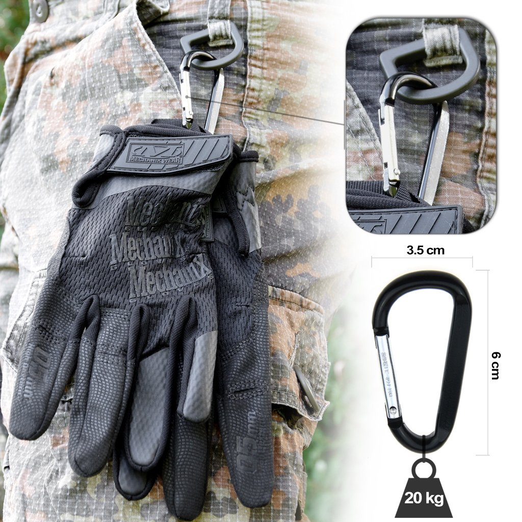 transpirables y ergon/ómicos Negro Guantes t/ácticos coyote // Talla S Mechanix Wear Specialty High Dexterity XL 0,5/mm L M mosquet/ón color negro
