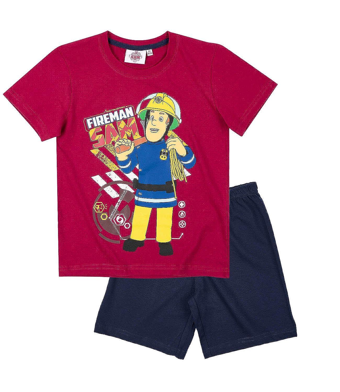 Barato Sam el bombero Chicos Pijama Mangas Cortas - Rojo - www ... 3264b4d33f686