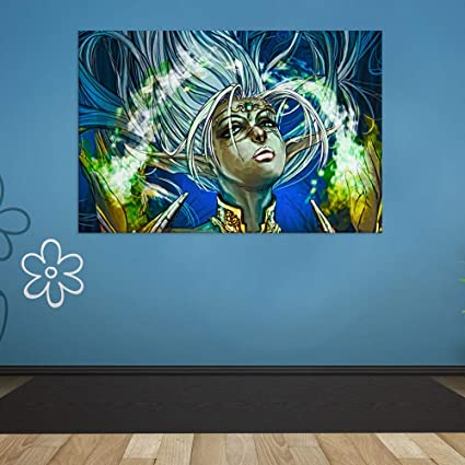 Amazon Com Inephos Unframed Canvas Painting Beautiful Girl