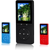 FecPecu Portable 8GB MP3 Player, Expandable Up To 64GB, Black