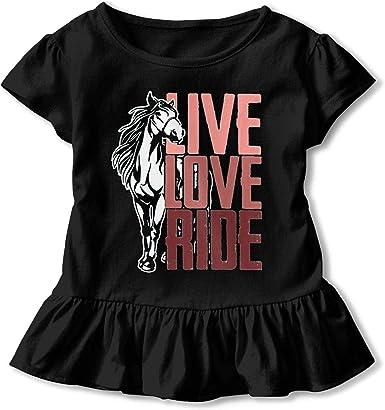 Love Ride Horse 2-6 Years Old Children Short Sleeve Tshirt Live