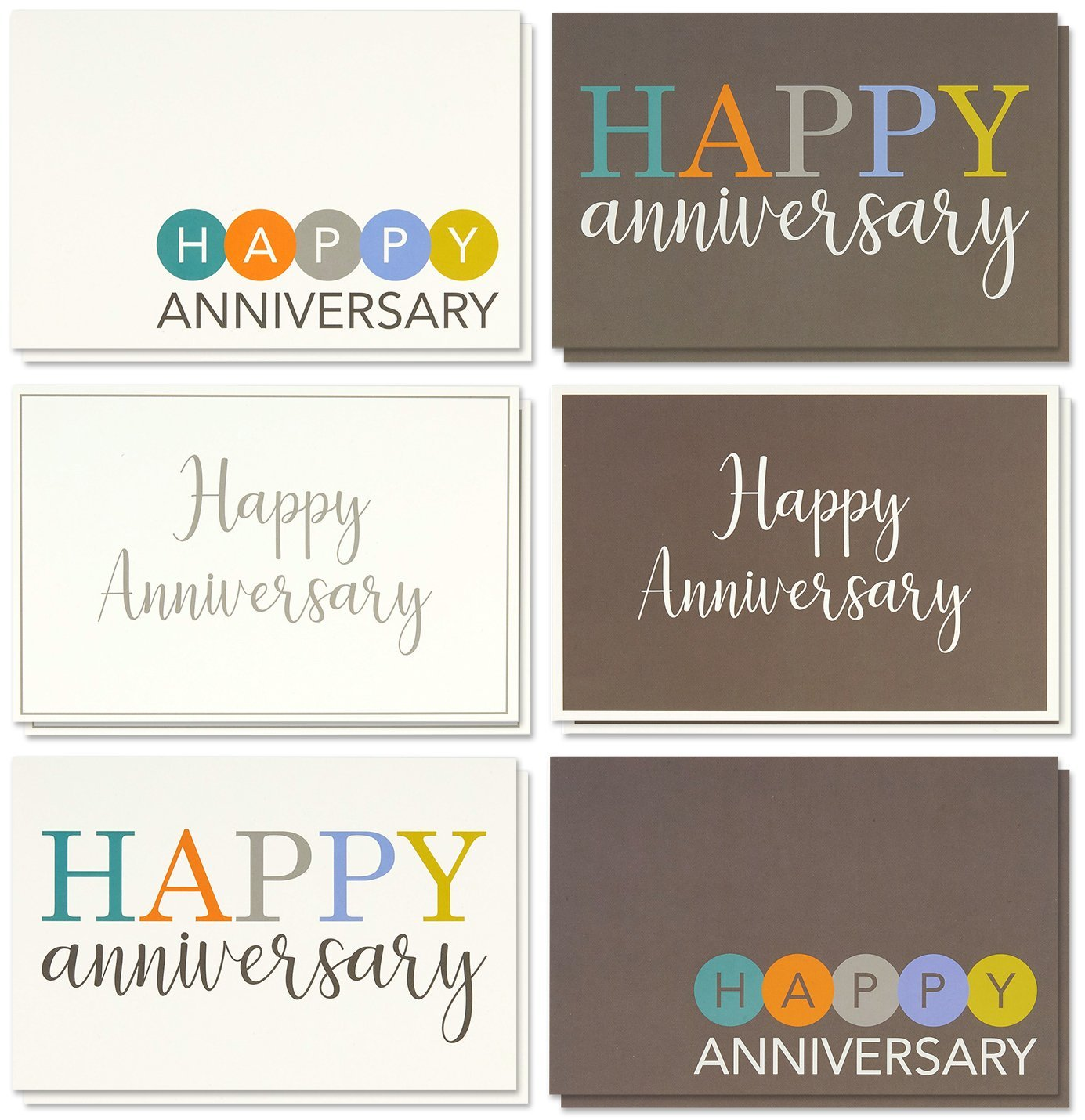 Amazon 36 Pack Anniversary Card Set Happy Anniversary Cards