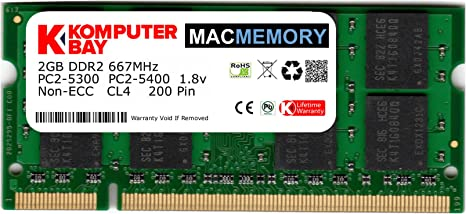 Komputerbay MACMEMORY Apple 2GB (Solo 2GB) PC2-5300 667MHz DDR2 ...