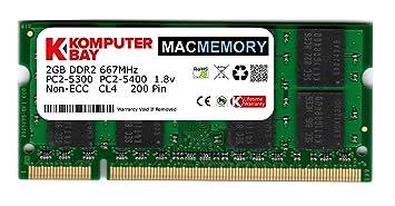 Komputerbay MACMEMORY Apple 2GB (solo 2GB) PC2-5300 667MHz DDR2 SODIMM iMac y