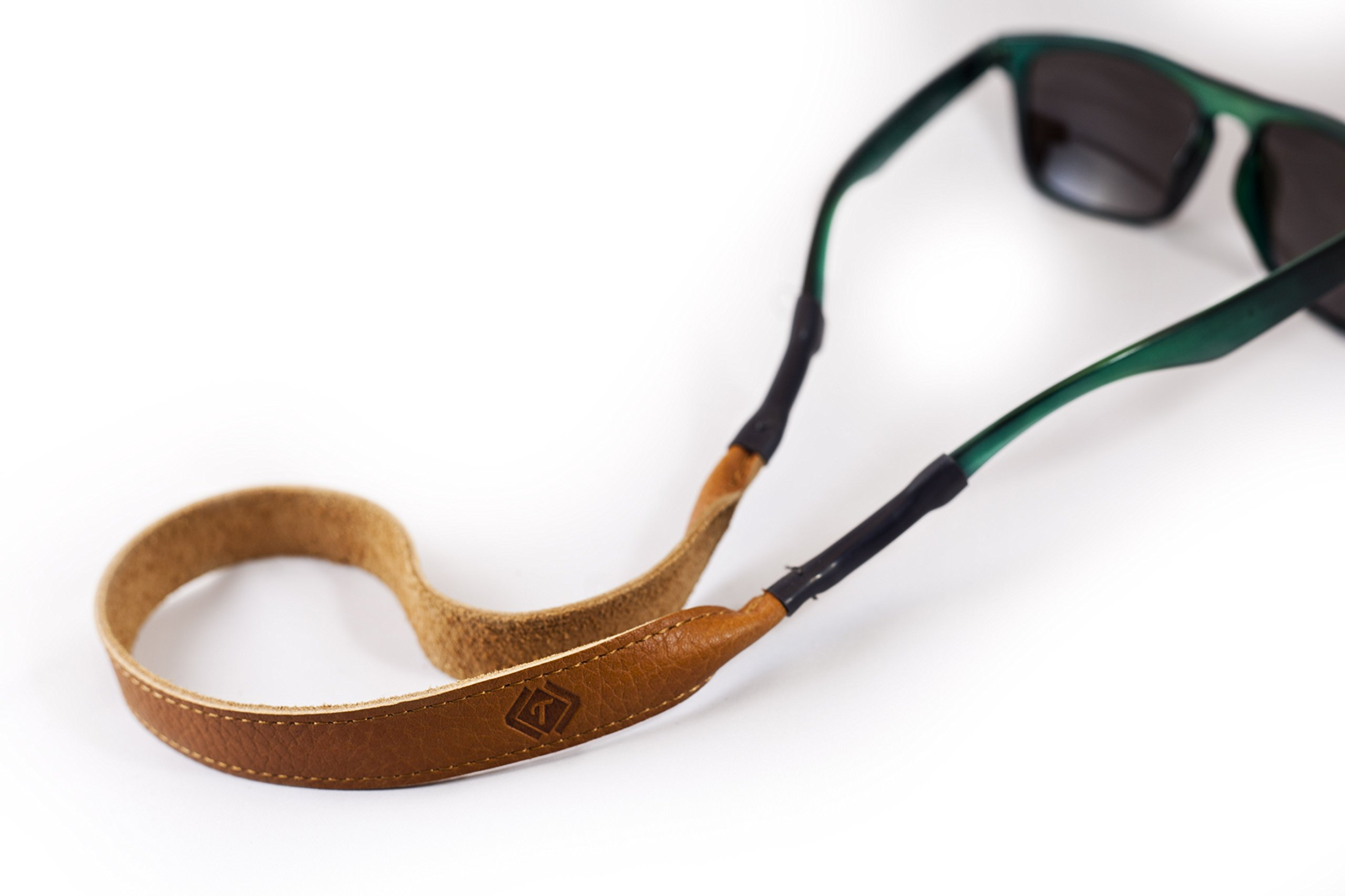 Tan Leather Eye Wear Retainer / Sunglass Strap / Eye Wear Strap by TETHER