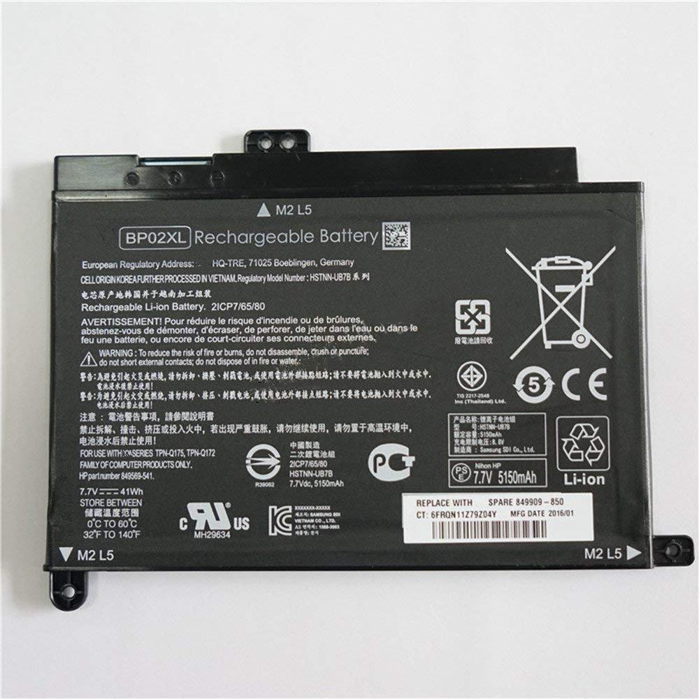 Bateria BP02XL para HP Pavilion PC 15 15-AU010WM 15-AU018WM Series BP02XL HSTNN-UB7B BP02041XL HSTNN-LB7H 2ICP7/65/80 84