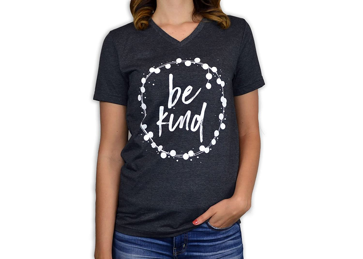 efd907c0 Bourne Southern Be Kind Women's Graphic Printed Fashion T-Shirt ...