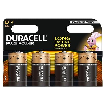 Duracell Plus Power Piles Alcalines type D, Lot de 4  Amazon.fr ... 5d6f896dd81e