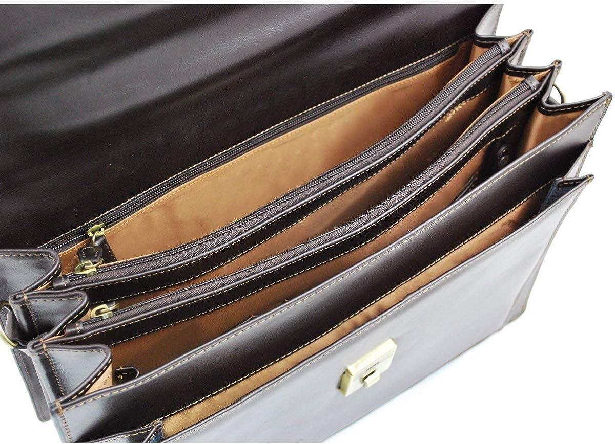 serviette L305 cuir de vachette haute qualit/é homme femme sac business mallette LIVAN/® porte documents 3 soufflets Cartable en cuir