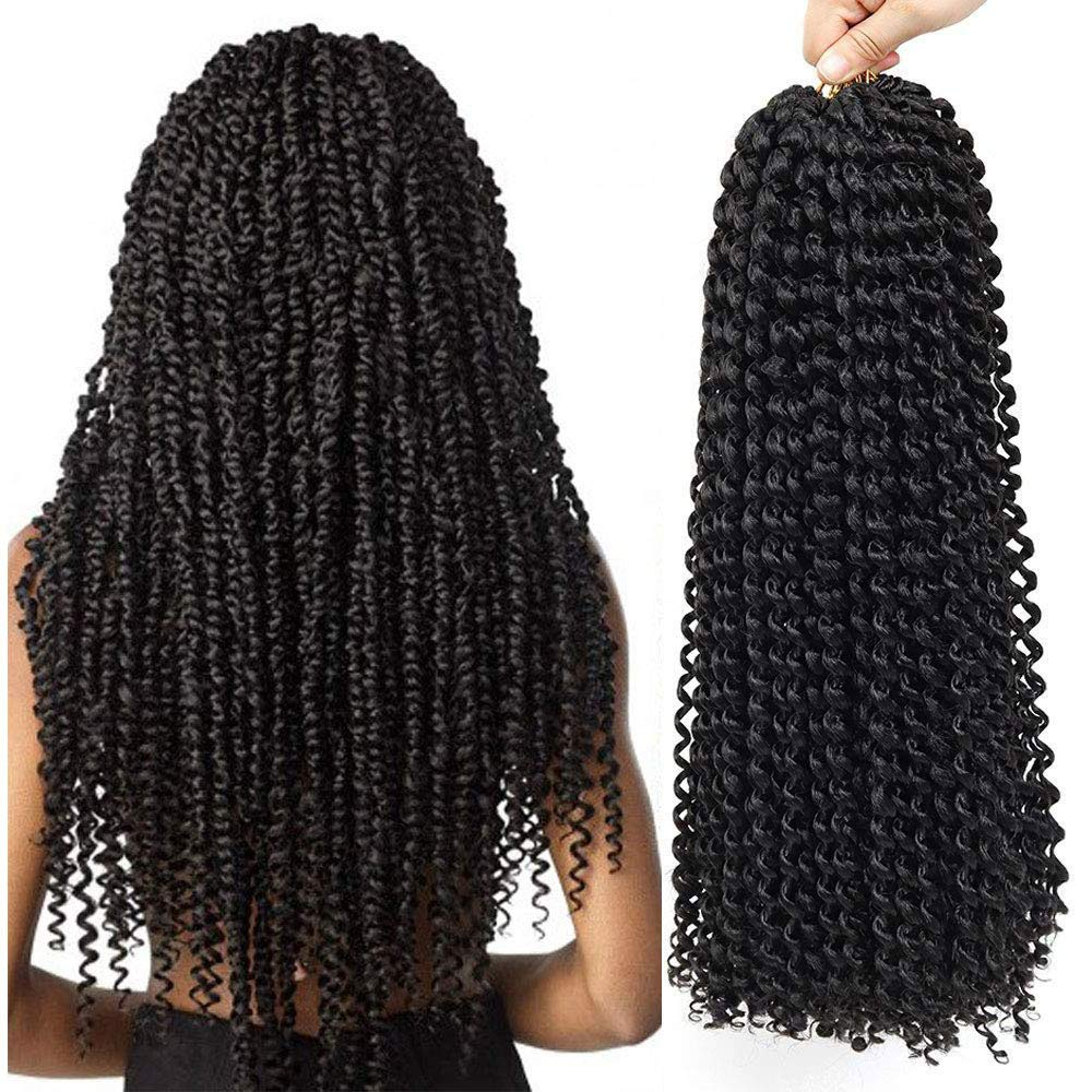 Amazon Com Passion Twist Crochet Hair Curly Water Wave Crochet Braids Hairstyles 3packs 18inch Long Bohemian Synthetic Hair Extensions 3pack 1b Beauty