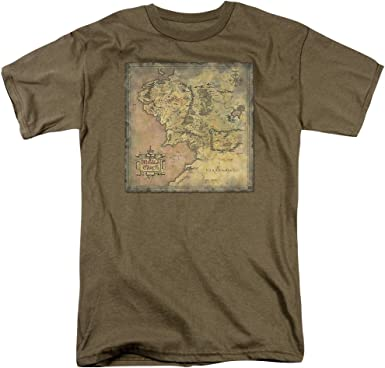 Lor Middle Earth Map Adult Tank Top