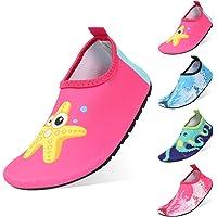 Padcod Kids Adults Swim Water Shoes, Girls Boys Men Women Quick Dry Sports Shoes, Unisex Barefoot Aqua Socks Shoes for Swim, Walking, Yoga, Garden, Park, Lake, Beach, Driving, Boating, Snorkeling