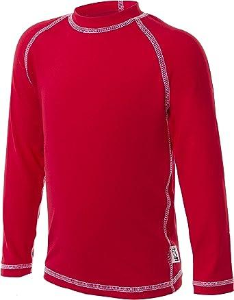 Loose Cut Long Sleeve Rashguard Swim T-Shirt UZZI Kids UPF 50