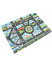 Homyl Kids World Map Road Traffic Play Mat Rug Toy Carpet Playmat Baby Children Developmental - for Playing with Toy Cars Trucks & Train Gifts