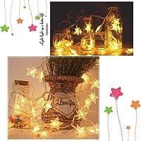 Smiela Home Garden Christmas Decoration Star Pendant LED Light String Outdoor String Lights Multicolor