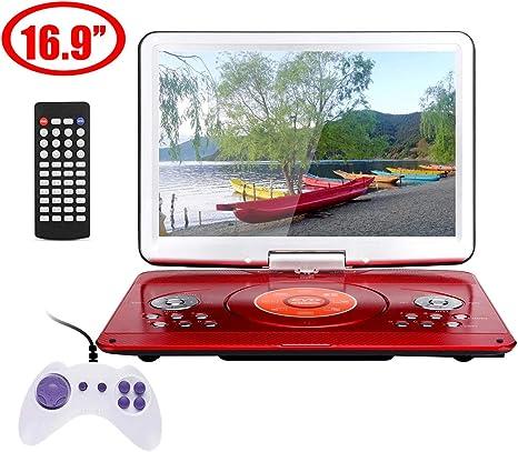 DZSF 16.9 Pulgadas Reproductor de DVD portátil, Pantalla giratoria ...