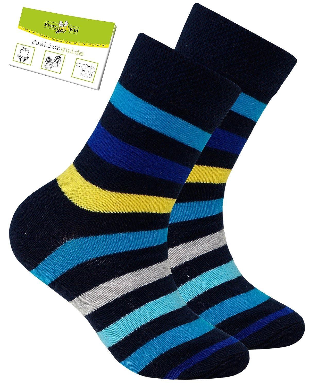 Ewers 1, 2 O 3 Envase Calcetines De Las Niñas Marca Deportivos Calcetas Calcetín Colorido A Rayas Para Niños (EW-201036-S17-MA3) incl. EveryKid-Fashionguide