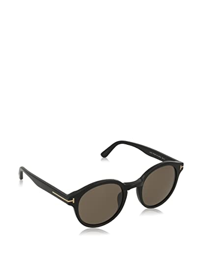 c1f6e5868b0 Image Unavailable. Image not available for. Color  Tom Ford TF400 01J Black  Lucho Round Sunglasses ...