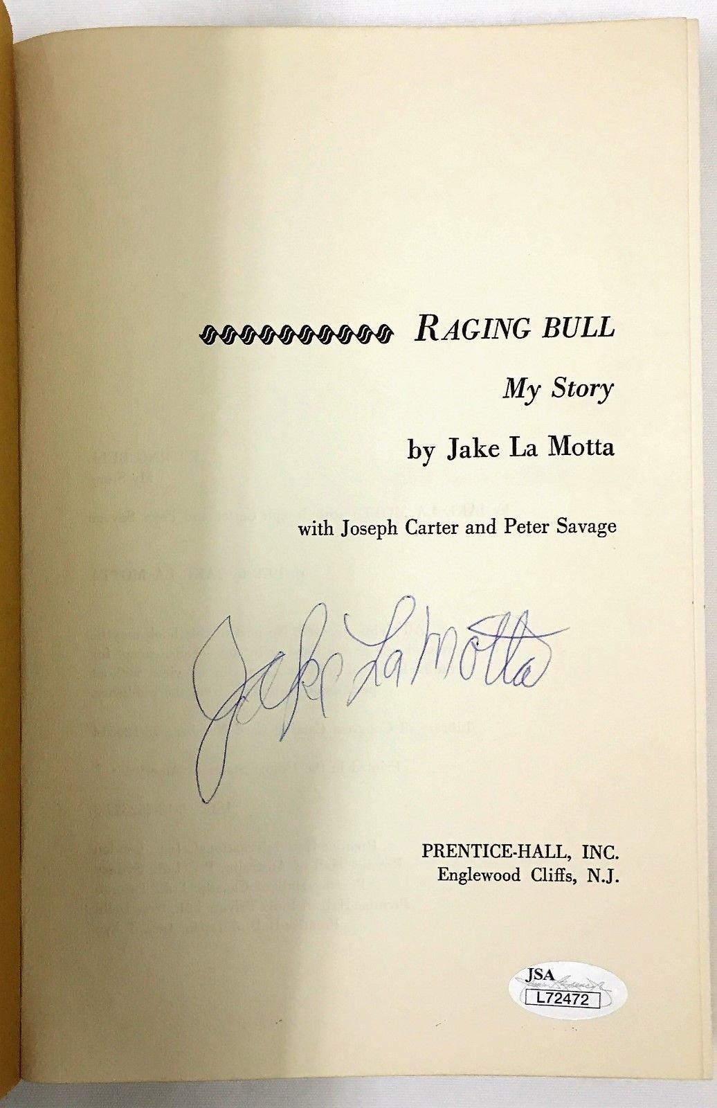 Jake La Motta Raging Bull My Story 1St Edition Signed Book JSA Certified Certified