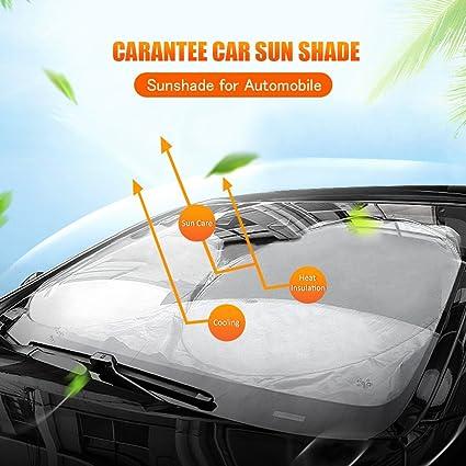 amazon com careantee windshield sun shade 100 uv ray reflector rh amazon com Audi 100 1997 1990 Audi 100 Interior