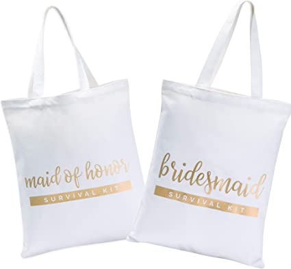 Bachelorette Party Welcome Bag Wedding Favor Bags Maid of Honor Gift Welcome Tote MOH Gift Maid of Honor Wedding Canvas Tote