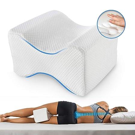 Almohadas piernas para dormir, Cojín ortopédico para almohada con de memoria para durmientes de lado, Almohada de apoyo para la rodilla para ciático ...