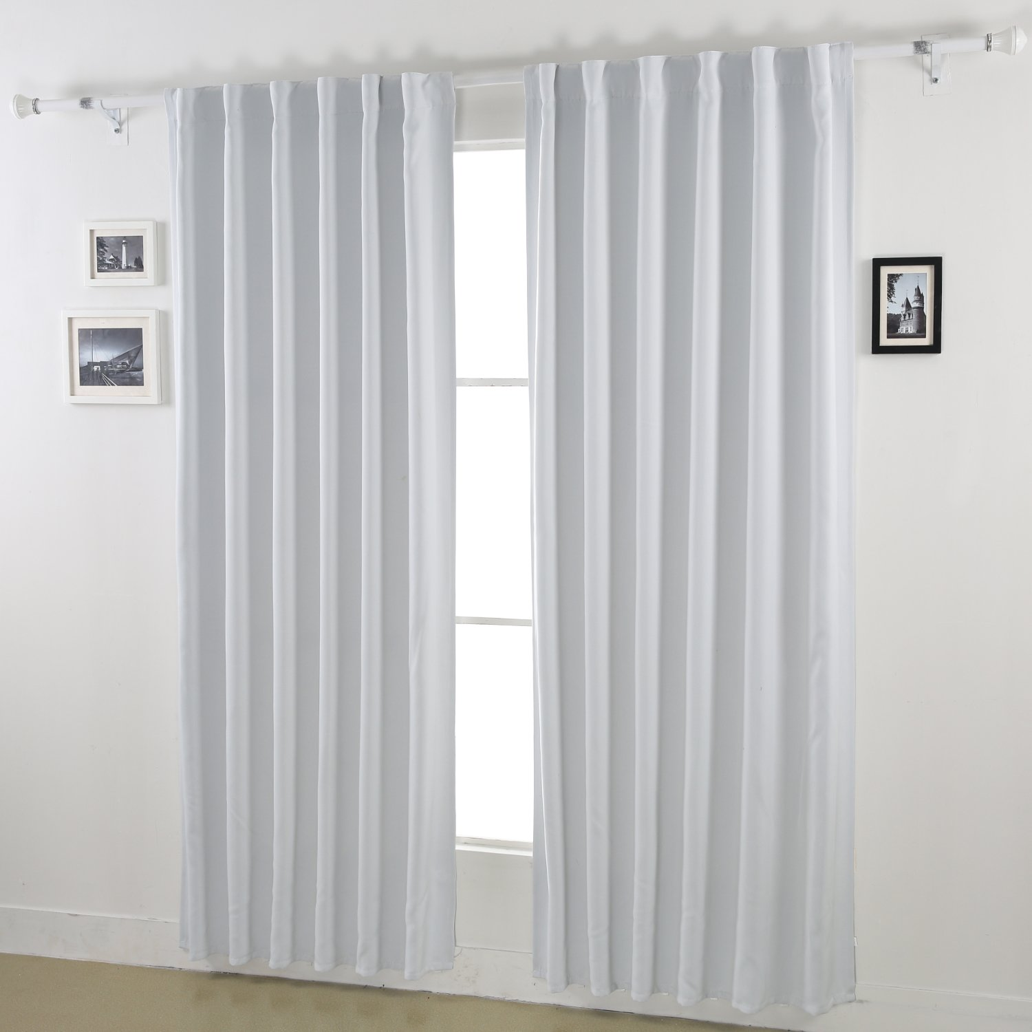 Deconovo Back Tab and Rod Pocket Curtains Blackout Curtains Thermal Insulated Room Darkening Curtains