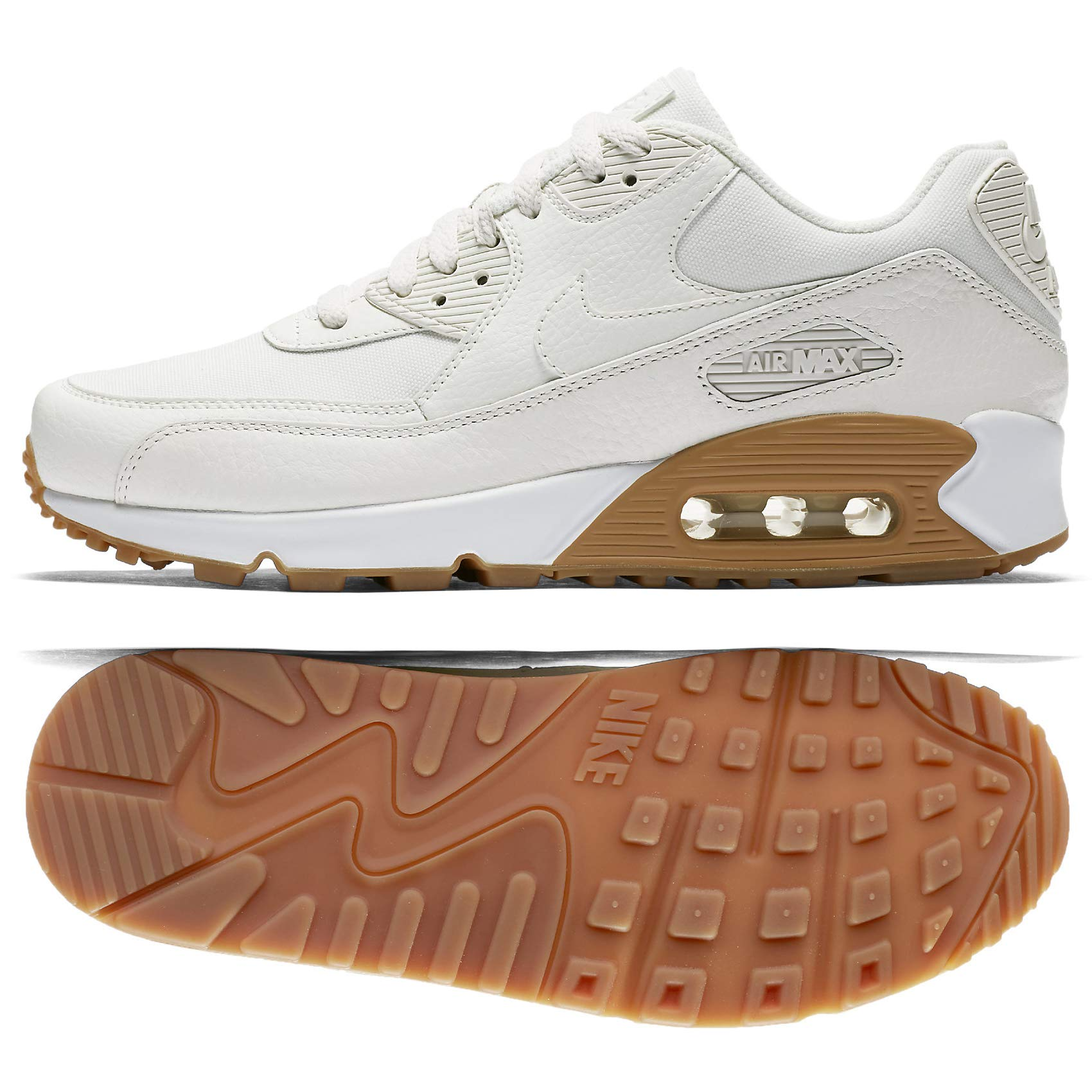 check out 385c5 8da2f Galleon - Nike Air Max 90 Premium Women s Running Shoes 896497-100 (9)