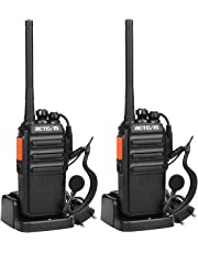 Retevis RT24 Walkie Talkie PMR446 0.5W Ricetrasmittenti Licenza-Libero Lunga Distanza VOX BCL Radio Ricetrasmittenti Portatili con Auricolare(Nero,2 Pezzi)